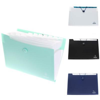 4x, A4 Carpeta de archivos extensible, Acordeón Carpeta Clasificadora de documentos con 12 Compartimentos, para hogar u oficina, pack de 4 con 4 colores, TKD8004