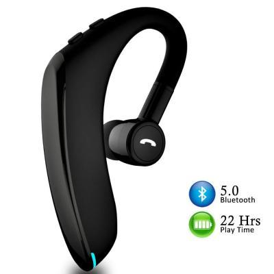 Auricular Bluetooth Auricular manos libres de conducción para iPhone Android Plata