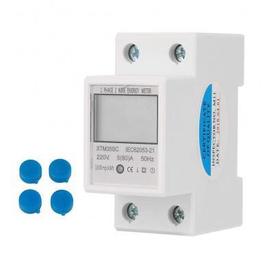 Medidor eléctrico digital monofásico de 2 hilos