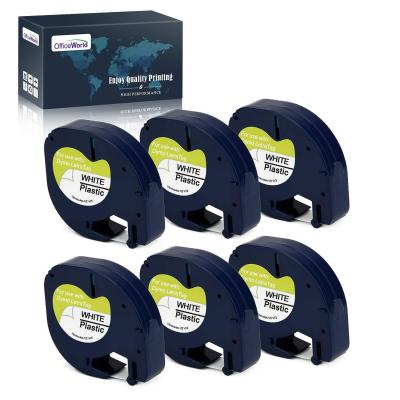 Officeworld 6 X Compatible Dymo Letratag